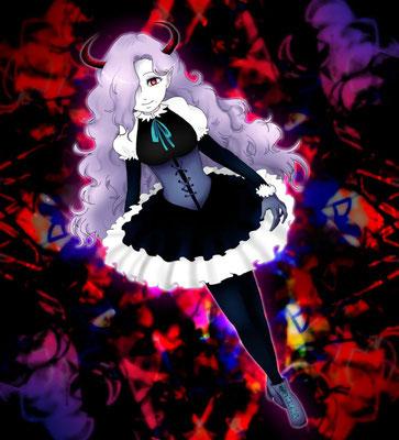 千子零太さんより、twitterタグの創作女子キャラ。可愛くて、小悪魔度が増し増しです!指先や編み込み等、細部まで丁寧に描かれていて恐縮です…。