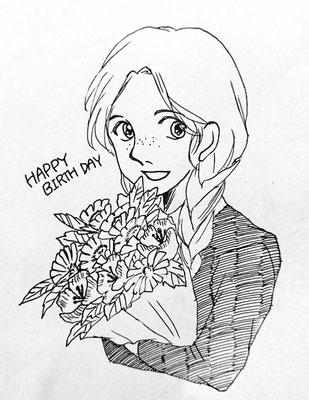 とまこ商事さんより、エステル。まっすぐな澄んだ瞳が素敵です!!お花まで抱いて…可愛らしい…。