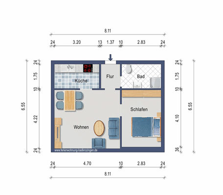 Plan de l´appartement.
