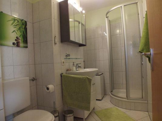 La salle de bain, douche.
