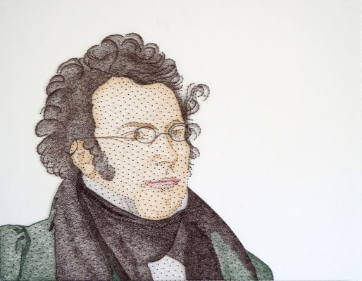 string art porträt nr. 43   -   87 x 61 cm   -   Franz Schubert   -   available