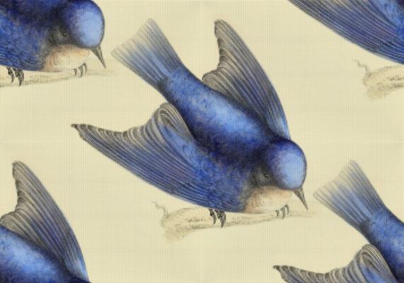 2020-05-06 « Hirondelles », peinture numérique, 30 x 21 cm ©sylvie lander