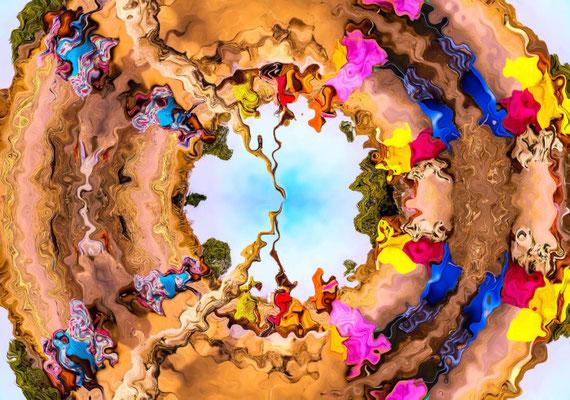 2020-04-29 « Tourner en rond », peinture numérique, 30 x 21 cm ©sylvie lander