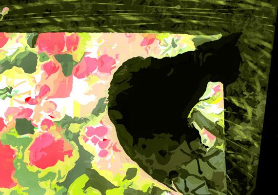 2020-04-14 « Saut de l'avant-après... », peinture numérique, 30 x 21 cm ©sylvie lander