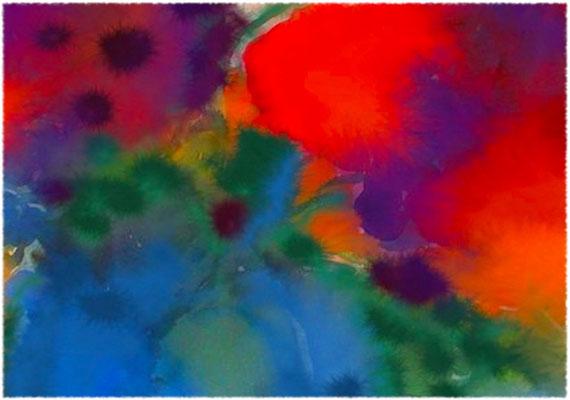 2020-04-22 « Fusion », peinture numérique, 30 x 21 cm ©sylvie lander