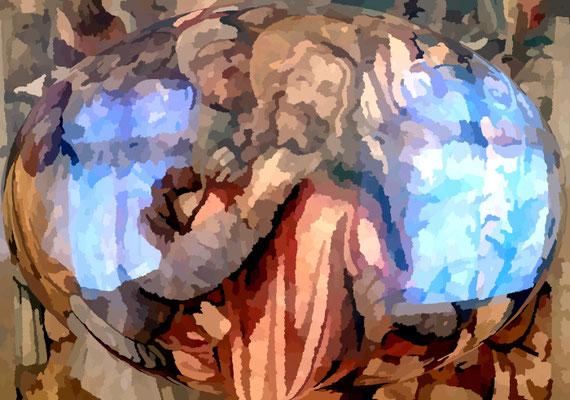 2020-04-09 « Laissez faire, arrêtez ! », peinture numérique, 30 x 21 cm ©sylvie lander