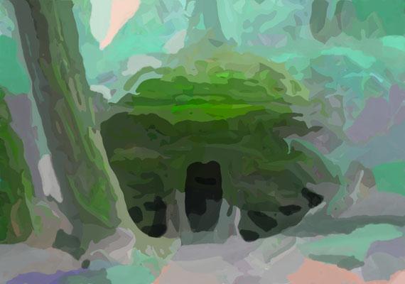 2020-04-11 « Passage », peinture numérique, 30 x 21 cm ©sylvie lander