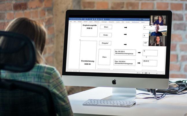 Während des Webinares werden in anschaulichen Beispielen die verschiedenen Themen behandelt. Zusätzliche Lernunterlagen werden Ihnen vorab zur Verfügung gestellt. Diese können Sie sich ausdrucken und während des Webinares nutzen.