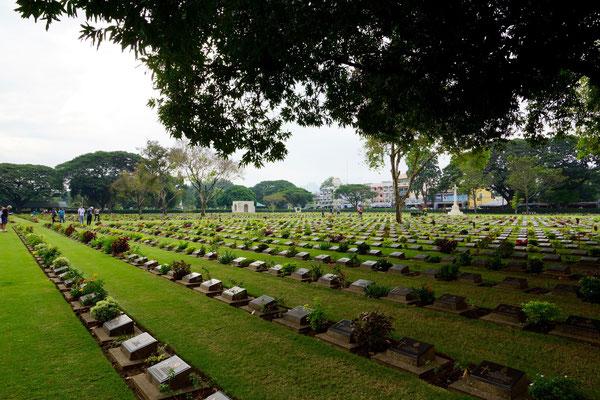 Friedhof der Kriegsgefangenen für den Bau der Kwai-Brücke/Strecke