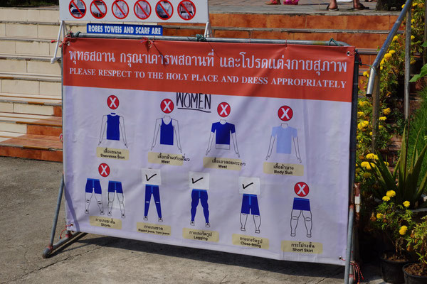 Dresscode für Tempelanlagen