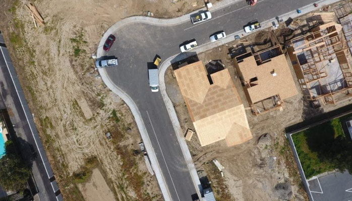 Infrastructure aerial surveying using drones