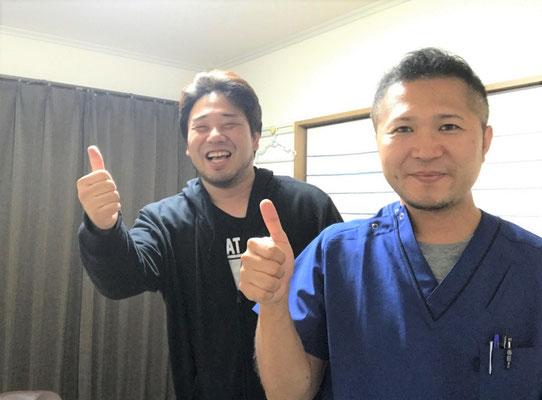 施術後は笑顔ですね♪