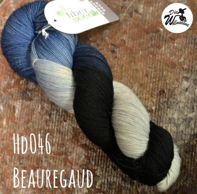 handgefärbte amerikanische Merinowolle the fiber seed sprout sock fingering