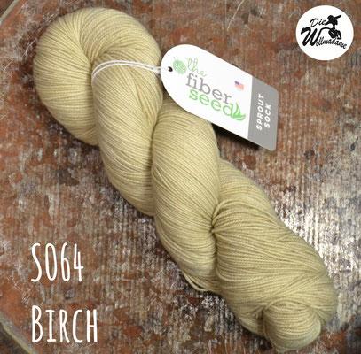 handgefärbte amerikanische Merinowolle the fiber seed sprout sock fingering uni