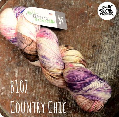 handgefärbte amerikanische Merinowolle the fiber seed sprout sock fingering besprinkled konfetti