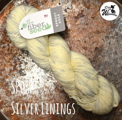 handgefärbte amerikanische Merinowolle the fiber seed sprout sock fingering speckled konfetti