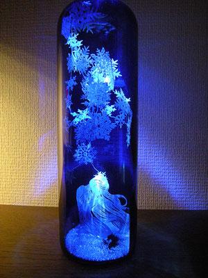 切り絵ボトルアート・雪の結晶