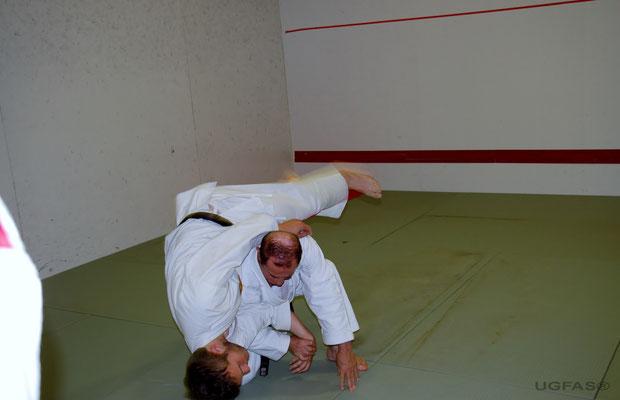 Demostración practica de Jiu Jitsu del 7º Dan Angel Gasco