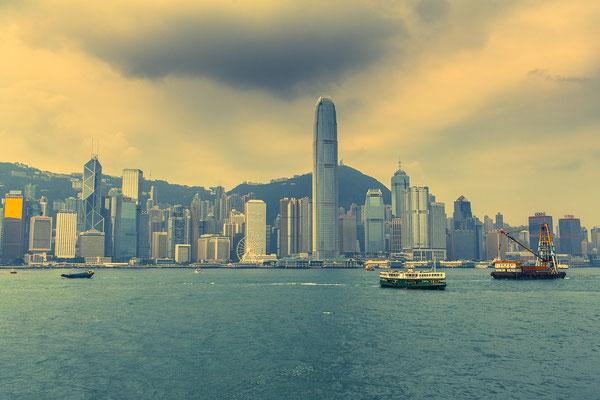 Blick auf Hongkong Island