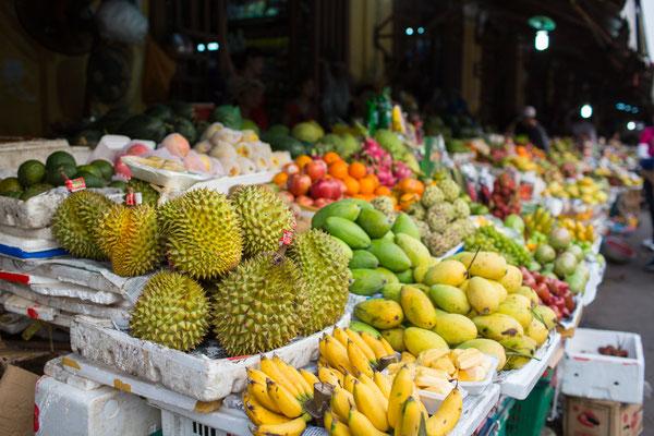 die Auswahl an frischem Obst und Gemüse ist unglaublich