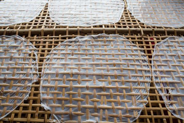 Trockenen von Reispapier