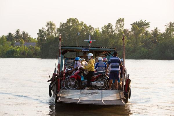 Fähren sind oft die einzigste Möglichkeit den Fluss zu überqueren