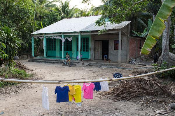 ein Haus im Mekongdelta