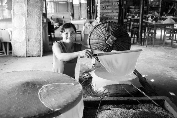 Herstellung von Reispapier II