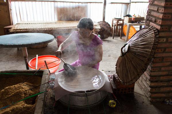 Herstellung von Reispapier I