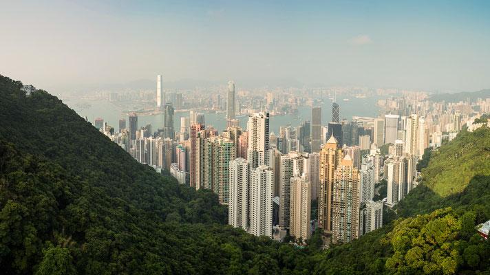 The Peak mit Blick auf Hongkong