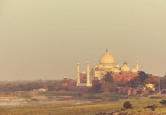 Aussicht auf das Taj Mahal