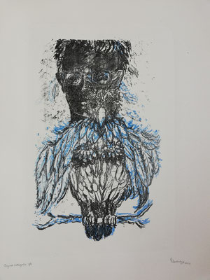 The Bird in Me 1/5 / Lithography / Paper size 50 x 65 cm / 2019