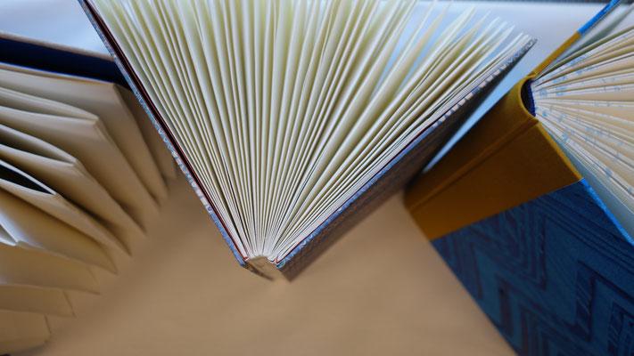 Wer möchte nicht einmal ein eigenes Buch binden? Sicher schwierig, aber in diesem Kurs mit diesem Referenten ein Genuss.