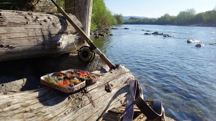 Fliegenfischer-Stillleben mit 7-er Switch