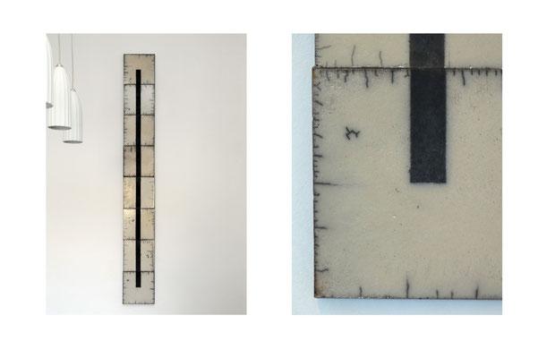 Sehr schlankes, ebenfalls minimalistisches Rakubild (165cm Höhe)