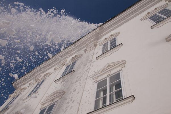 Vorsicht Dachlawine! Ein echter Schnappschuß