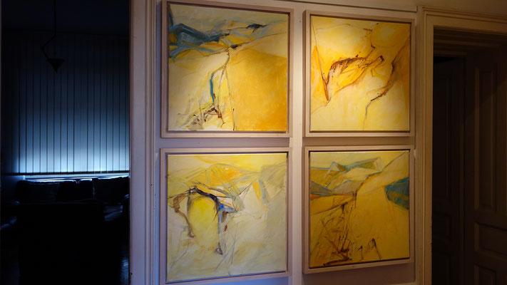 Das sind die Großväter dieser Arbeitsphase. Sie stammen aus 2006 und wurden auf der Insel Cres gemalt.