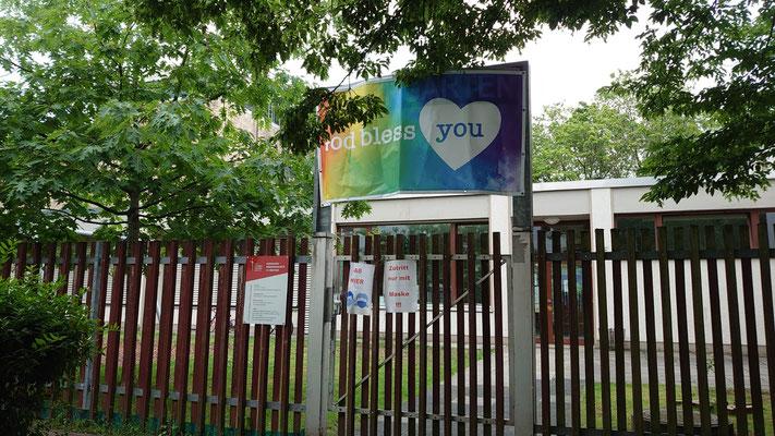 Banner an der Kita St. Sebastian