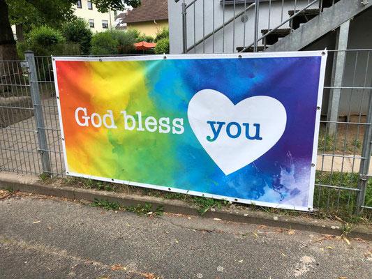 Banner an der Kita St. Laurentius