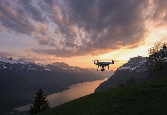 DJI, Drohne, Walensee, Sunset, Heidiland,