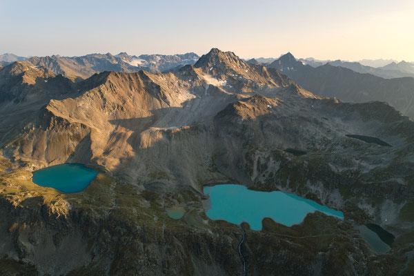 Drohnenbild, Jöriseen, Graubünden