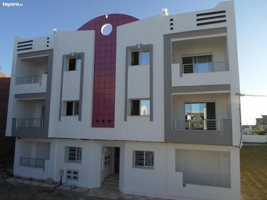 Belles façades de maison moderne en tunisie