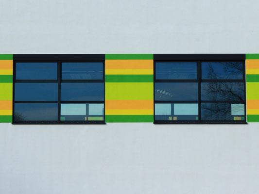 Gelungene Farbgestaltung an der Comenius-Grundschule in Oranienburg