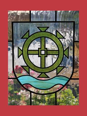 Ein Fenster von innen gesehen – aus dem Trausaal im Rathaus Mühlenbeck (Variation)