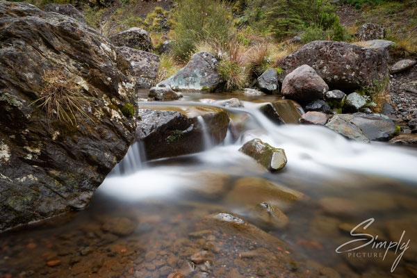 Tongariro National Park, kleiner Fluss im Nationalpark