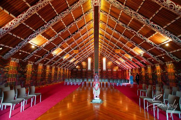 Whakatane, Mataatua, The House That Came Home, Maori Stammeshaus das nach langer Reise um die Welt an seinen Uhrsprung zurück kam