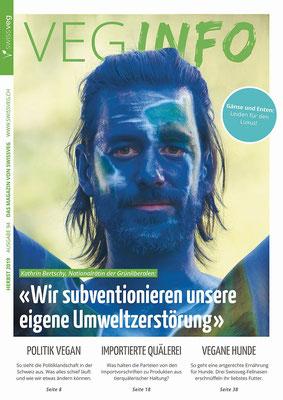 Titelbild auf dem SwissvegInfo 2019
