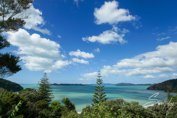 Russell, Wainui Lodge - BBH, Sicht über die Bucht