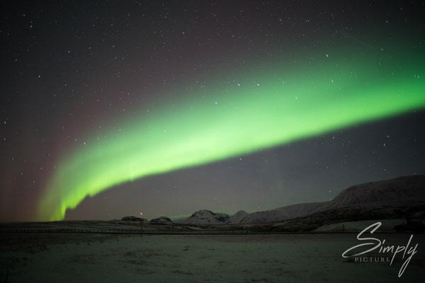 Grüne Nordlichter bei Laugarvatn.