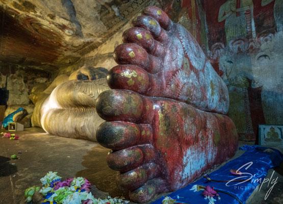Buddha's Füsse in einer der Stupa